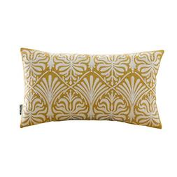 HWY 50 Cotton Embroidered Decorative Rectangle Throw Pillow