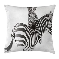 Ambesonne Zebra Throw Pillow Cushion Cover by, African Anima