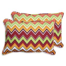 Pillow Perfect Outdoor Zig Zag Rectangular Throw Pillow, Ove